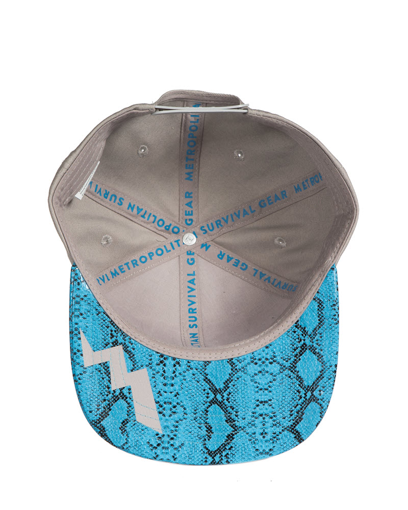Cap grey with snake pattern