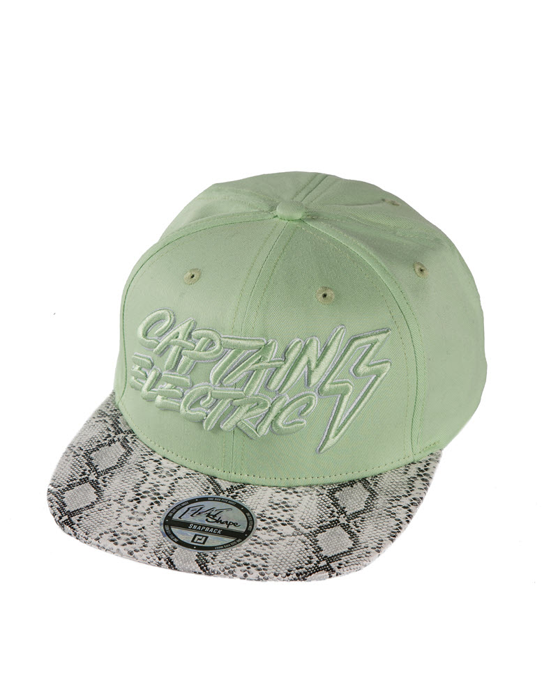 Cap mint with snake pattern